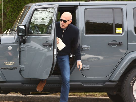 Matt Lauer seen out for the first time since his firing