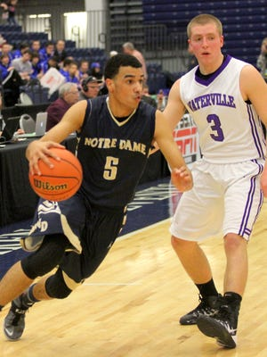 Elmira Notre Dame senior guard Darius Garvin was a second-team Class C all-state pick last season.