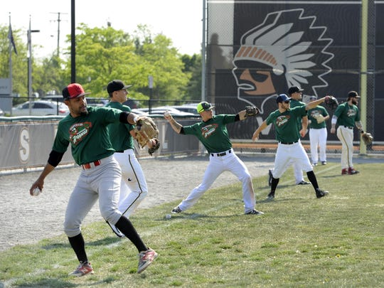 The Eastside Diamond Hoppers warm up for the four-month season at the new ballpark, which spans 75 games with three teams from May to September.