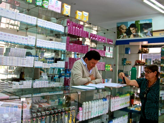 Marcelo Ferreira, the owner of a pharmacy in Ciudad