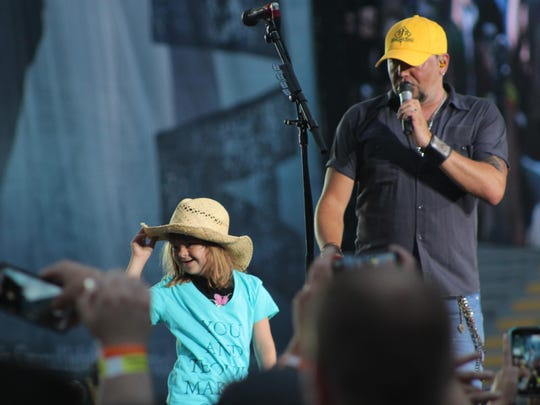 Nine-year-old Brooke Marshall enjoys her time onstage