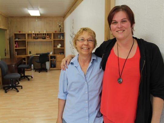 Tonya Rosandich, left, and Sabrina Steele recently