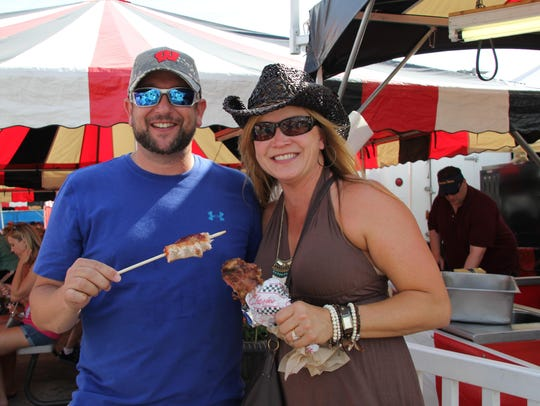 Deep fried or on a stick or both, food at the Wisconsin