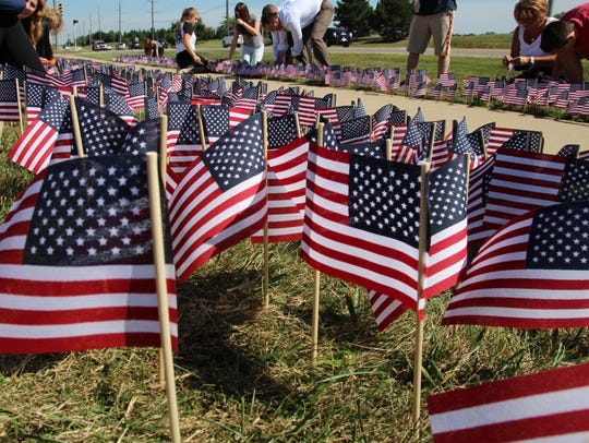 Thousands of flags were planted in honor of those who