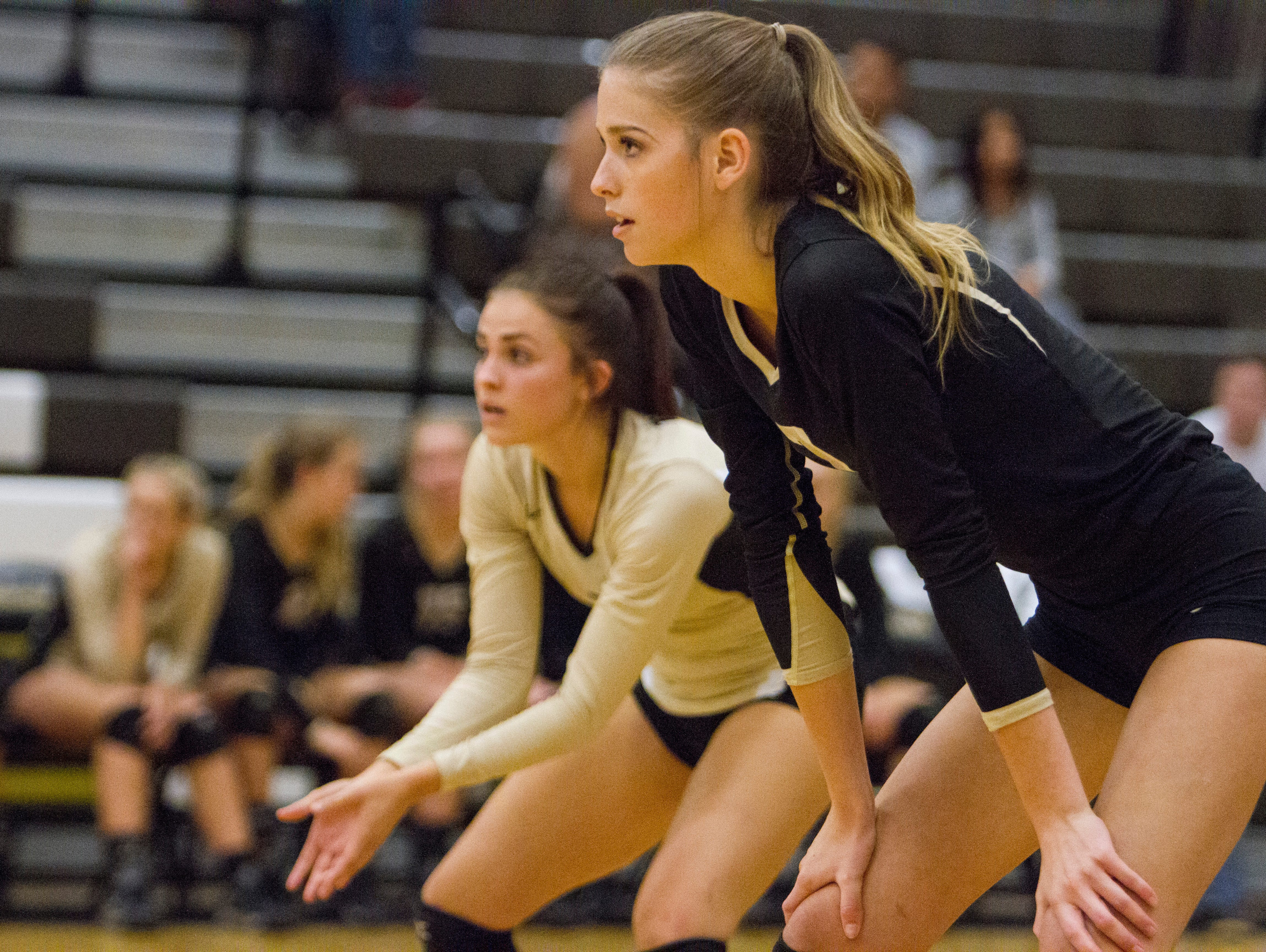 Rachel Winters and Charity Bradley combined for 28 kills and 23 digs as Desert Hills swept Canyon View (25-19, 25-11, 25-15) at home on Thursday. Hailee Harmer led the way with 31 assists in the win for the Thunder.