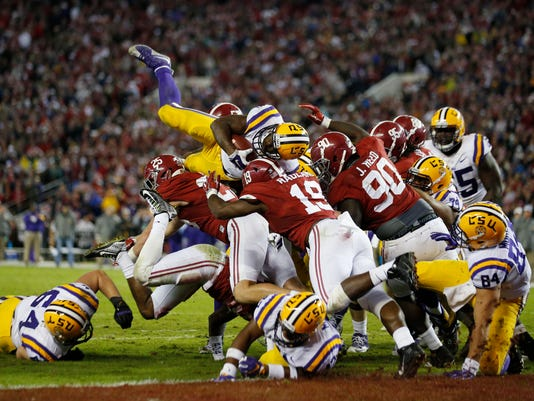 LSU Alabama Football