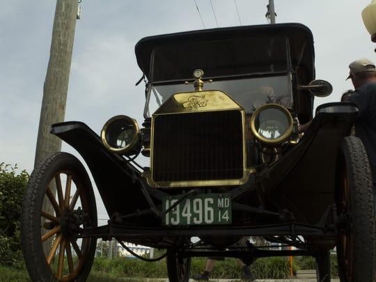 Shown is a 1914 Model T