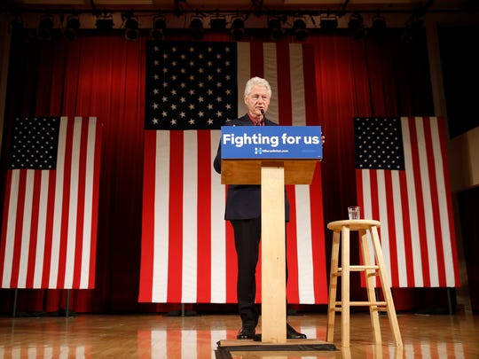Former president Bill Clinton speaks during a campaign