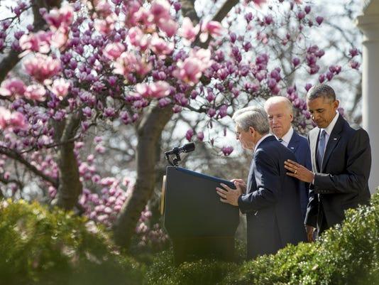 Barack Obama, Joe Biden, Merrick Garland