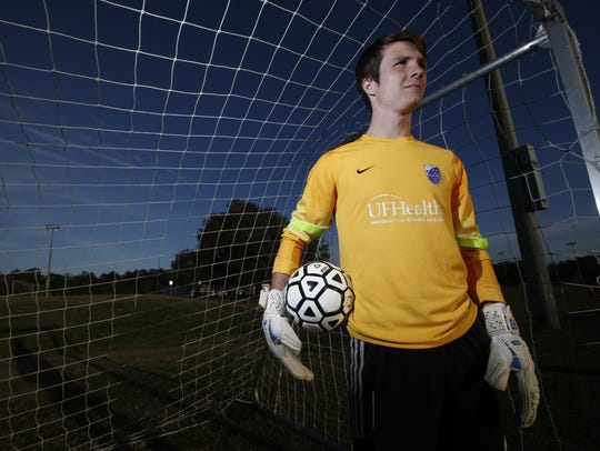 Lincoln goalie Eli Lasley is the 2016 All-Big Bend