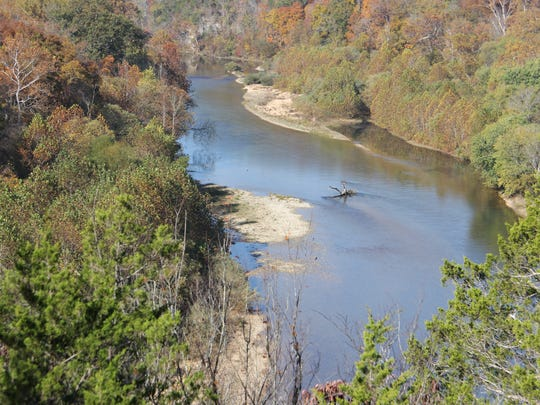 A view of the Current River northeast of Eminence,