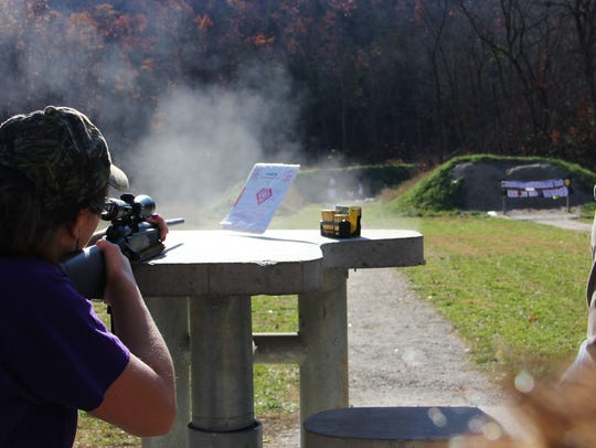 The public shooting range at Busiek State Forest is