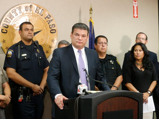 El Paso County Sheriff Richard Wiles and other state