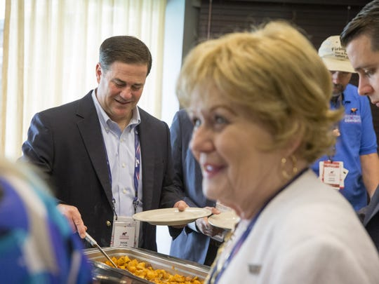 Gov. Doug Ducey and Arizona's delegation have a breakfast sponsored by Arizona businesses at Doubletree Hotel during the Republican National Convention in Cleveland, Ohio, on Monday, July 18, 2016.