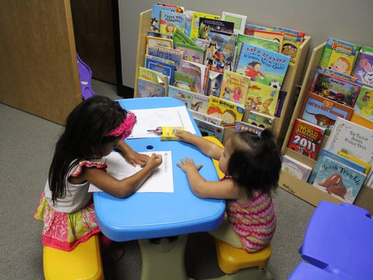If children got bored with the movie, they could always color in the children's play room at the Family Success Center in Hammonton.