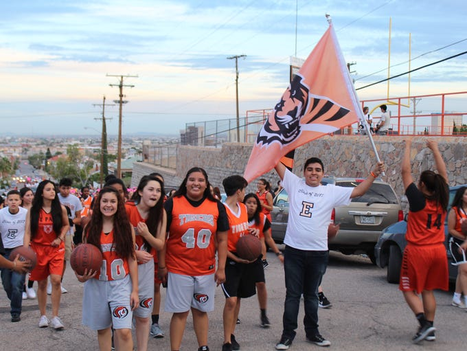El Paso High School held their homecoming parade on