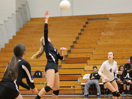 Emily Price in action during her senior season for