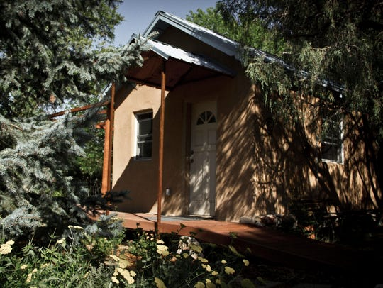 One of the rustic seasonal cabins, called Sparrow,