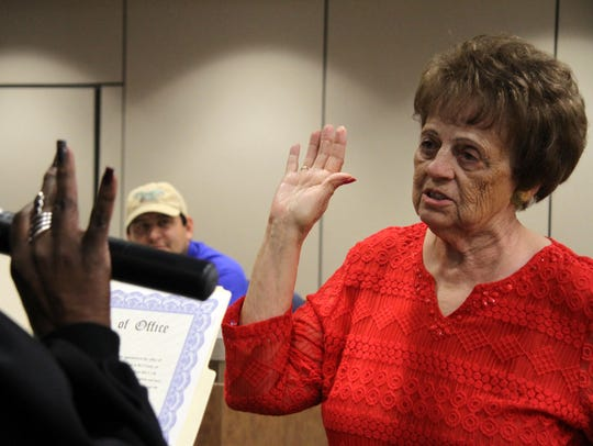 Janell Whitlock was sworn in at a special city council