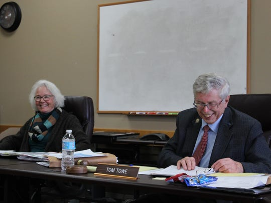Montana State Parks Board members Mary Sexton and Tom Towe voted in favor of extending the lease on Ackley Lake during the board meeting Thursday.