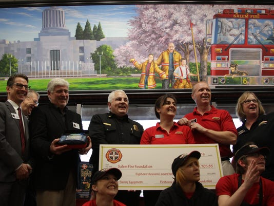 Salem Fire Foundation receives 15 AED's