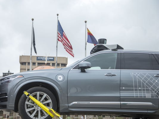uber self-driving driverless car testing in arizona