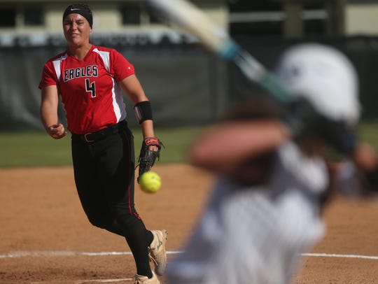 NFC's Katelyn Wood pitches against Madison County during