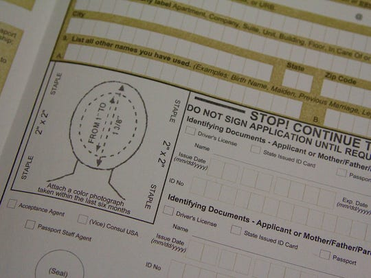"The Department of State's United States Passport Application requires a 2"" x 2"" recent  color photograph of the applicant."