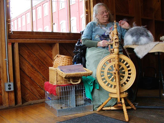 Dallas woman spends decades spinning angora for Sheep to Shawl