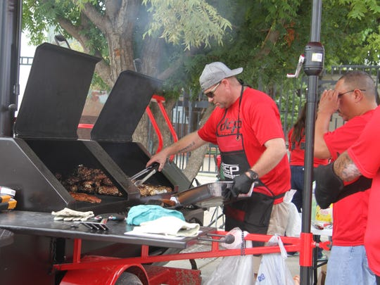 DCP Midstream participates in the Oildfield Cook-off at the third annual Red Dirt Black Gold Festival in Artesia, Saturday, Aug. 26, 2017. The group cooked steak, baked potatoes and jalapeno poppers.