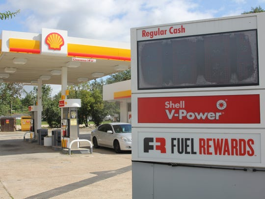 The Shell station on Gaines Street and Railroad Avenue