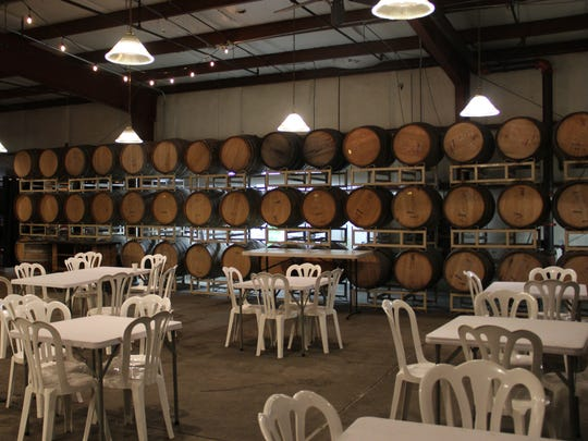 The dining area at Eola Hills Wine Cellars will fill with brunch guests Nov. 12.