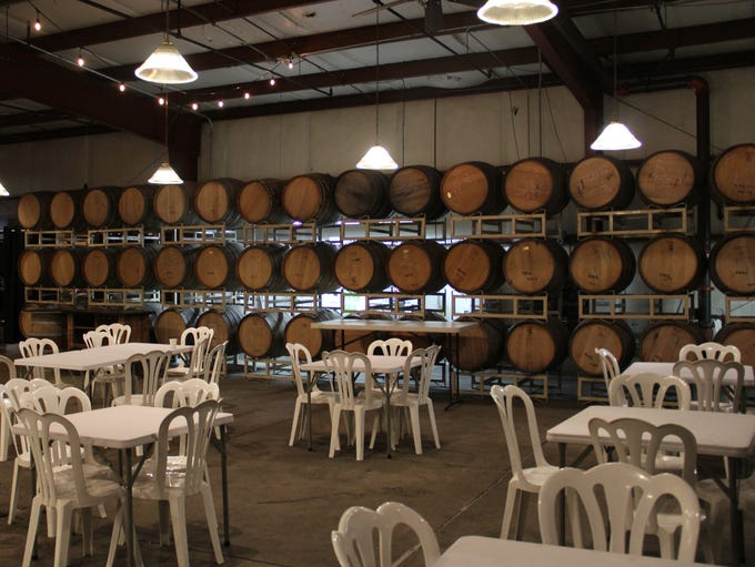 The dining area at Eola Hills Wine Cellars will fill