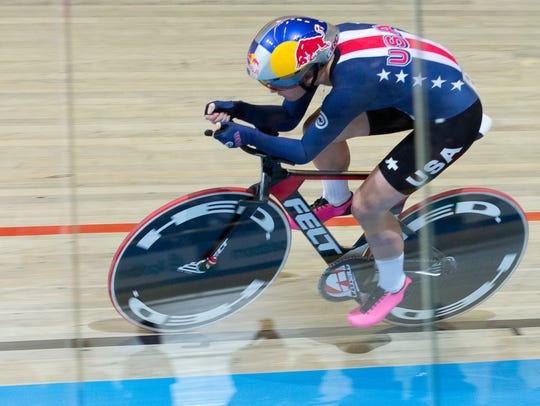 Chloe Dygert of the U.S. competes in the women's individual
