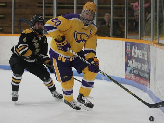 Willem Nong-Lambert will skate for the Rapid City Rush after tallying 34 points for UWSP in his senior season.