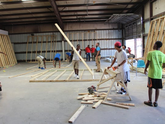 Delta Streets Academy 10th- through 12th-grade carpentry