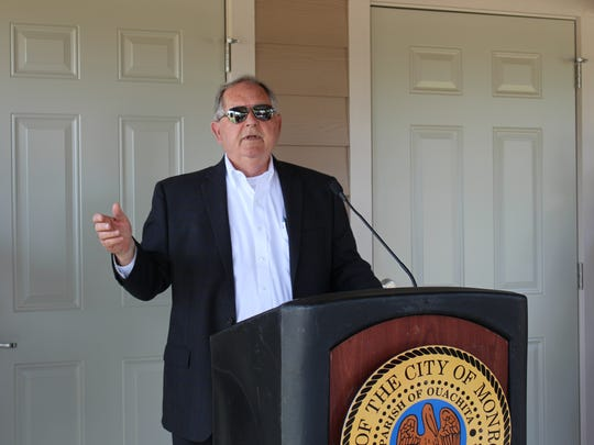 Frank Wilcox, Executive Director of Monroe Housing Authority, discusses the construction of 50 new homes in Robinson Place.