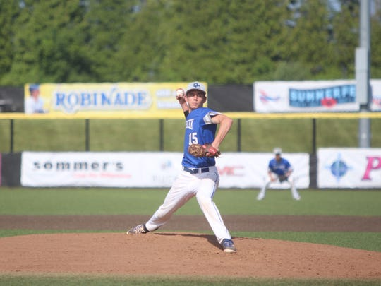 Oak Creek pitcher Kevin Wolf delivers a pitch against