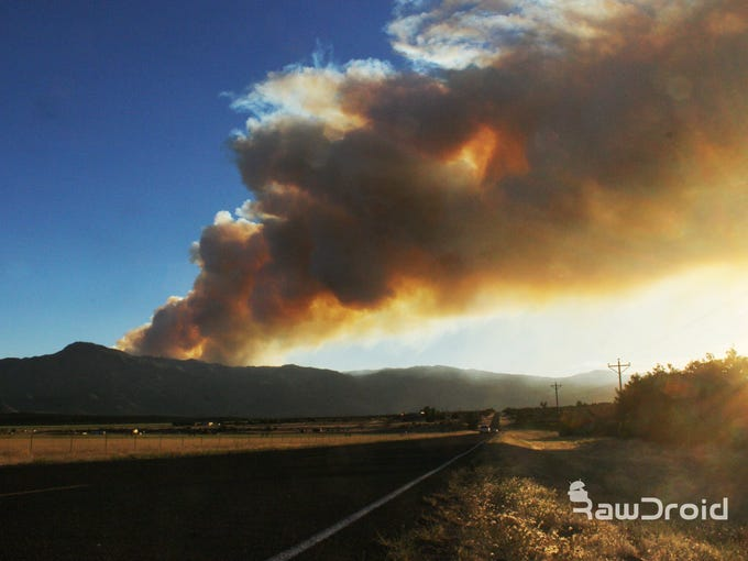 The West Valley Fire near Pine Valley Wednesday, June