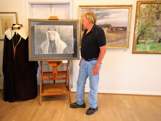 Michael Hurd admires his late father, Peter, that he holds dear to his heart and is one of his favorite pieces he has created to this date.