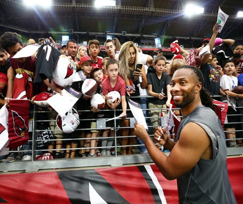Arizona Cardinals wide receiver Larry Fitzgerald has been with the team since 2004.