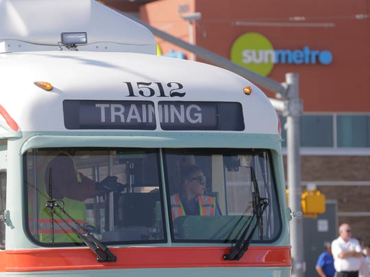 Sun Metro began training streetcar operators during daytime hours Monday. This marks the first opportunity for the public to share the road with the Streetcars while they operate in daytime traffic throughout its route in the downtown loop. In the coming weeks, you'll likely to see streetcars running more often along the route but, again, you won't be able to board just yet. The CRRMA and Sun Metro have several more months of testing and training to ensure the system can operate safely for the public.