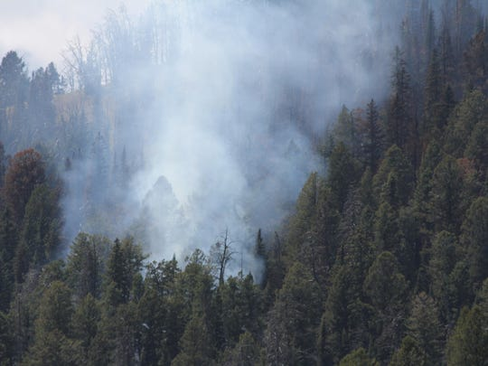 The Bacon Rind fire burns in dry fuels. The fire is burning within the Lee Metcalf Wilderness of the Custer Gallatin National Forest and Yellowstone National Park, near the northwest corner of the park.