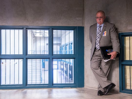 Department of Corrections Director Charles Ryan conducts a media tour of the Lewis Prison Complex in Buckeye in 2014.