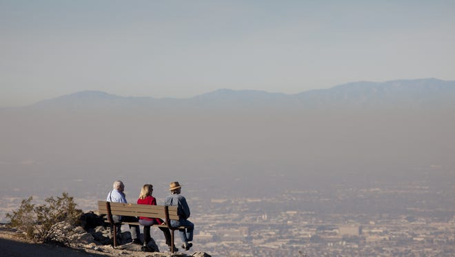 The brown cloud of pollution, as seen from Dobbins Lookout at South Mountain Park, December 2011.