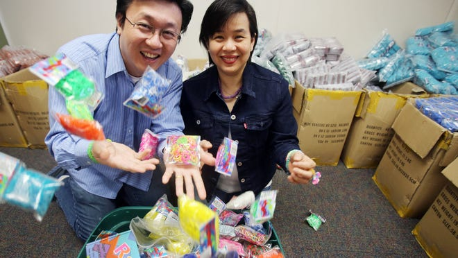 A Wixom company called Choon's Design LLC has a popular craft toy called the Rainbow Loom.
