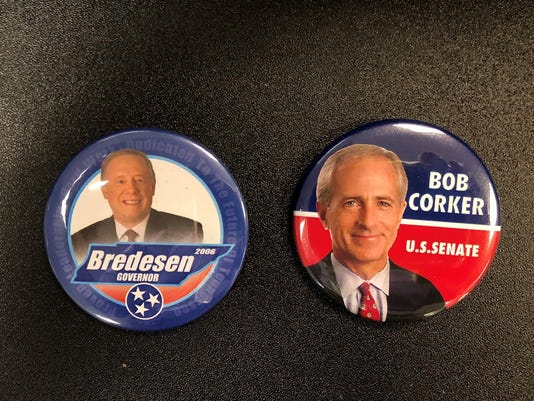 Bredesen and Corker campaign buttons