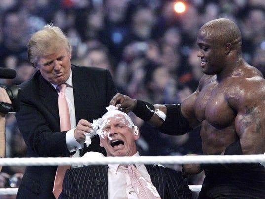 Donald Trump,Vince McMahon,Bobby Lashley