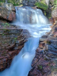 Virginia Falls is an easy 1.8-mile hike just off Going-to-the-Sun