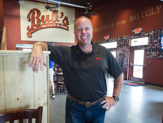 Matt Frey, the owner of Bub's Burgers and Ice Cream,